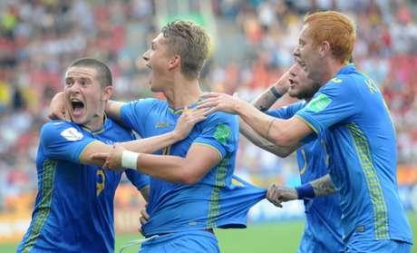 Ucranianos são os campeões mundiais sub-20 (Foto: AFP)