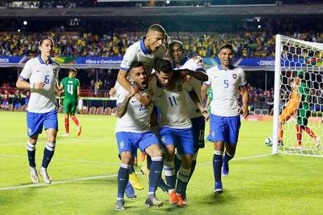 Comemoração da Seleção Brasileira