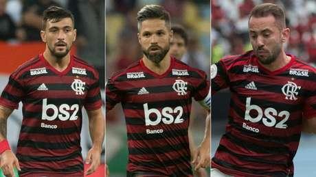 O sonho da torcida rubro-negra: Arrascaeta, Diego e Everton Ribeiro titulares no meio-campo (Alexandre Vidal / Flamengo)