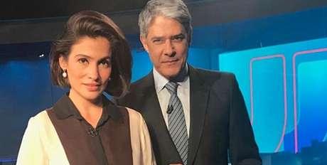 Os âncoras Renata Vasconcellos e William Bonner: todo mundo quer dar sua versão dos fatos no Jornal Nacional