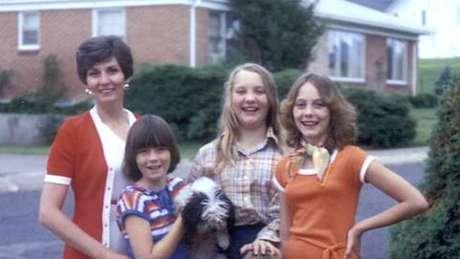 As quatro mulheres da família Broberg em 1977