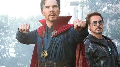 Benedict Cumberbatch e Robert Downey Jr são Doutor Estranho e Homem de Ferro
