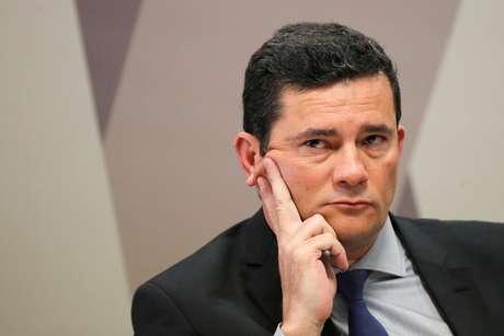 Ministro da Justiça, Sergio Moro, durante audiência na Comissão de Constituição e Justiça do Senado 19/06/2019 REUTERS/Adriano Machado