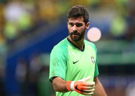 O goleiro Alisson, titular da Seleção Brasileira