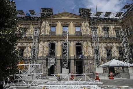 Obras de reconstrução do Museu Nacional do Rio de Janeiro