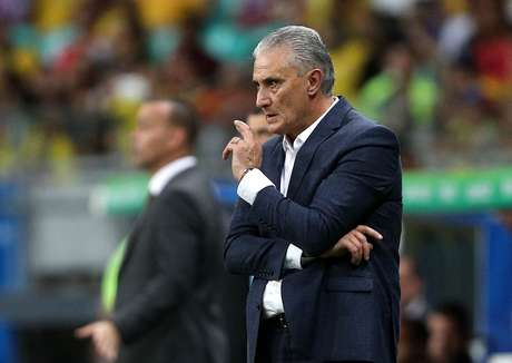 O técnico Tite, do Brasil, em partida contra a Venezuela, válida pela 2ª rodada do grupo A da Copa América 2019, realizada na Arena Fonte Nova, em Salvador (BA), nesta terça- feira (18)