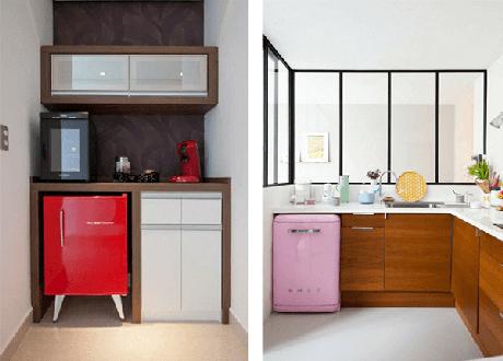 31. Mini geladeira encanta a decoração do ambiente. Fonte: Decoração Adoro Decorar