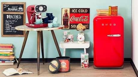 19. Mini geladeira para decoração da cozinha. Fonte: Westwing