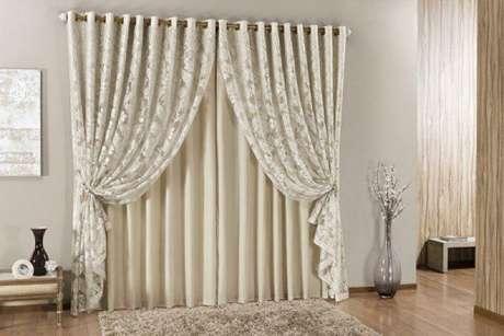 5. Tecido para cortina com renda para sala de estar – Por: Pinterest