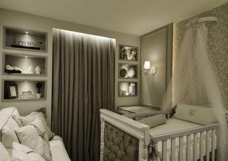 3. Tecido para cortina blecaute de quarto de bebê com a palete de cores impecável – Por: Daniele Franco
