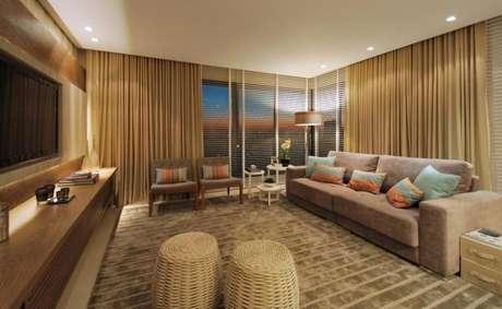 29. Tecido para cortina para decoração da sala de estar – Por: Abonotto
