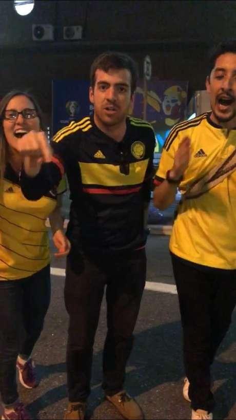 """Sara Lozano, 28,Juan Bohorquez, 29, e John Muñoz, 27; colombianos querem """"dar o troco"""" no Brasil"""