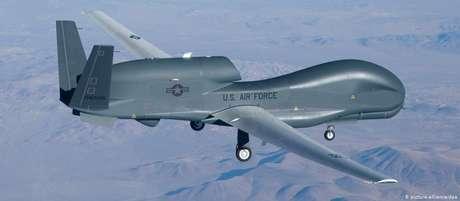 Drone americano do tipo Global Hawk
