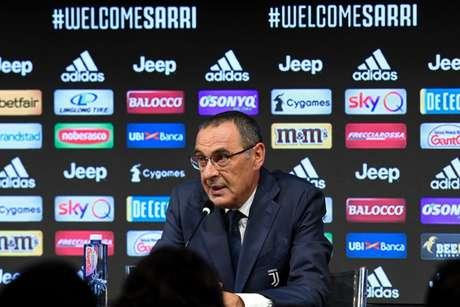 Sarri dá primeira coletiva como treinador da Juventus (Foto: Reprodução)