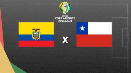 Equador e Chile se enfrentam na Fonte Nova (Arte: LANCE)