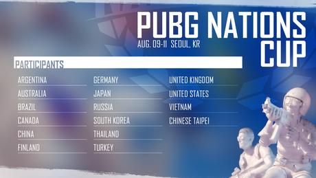 O torneio contará com as melhores seleções de Playerunknown's Battlegrounds de 16 países.