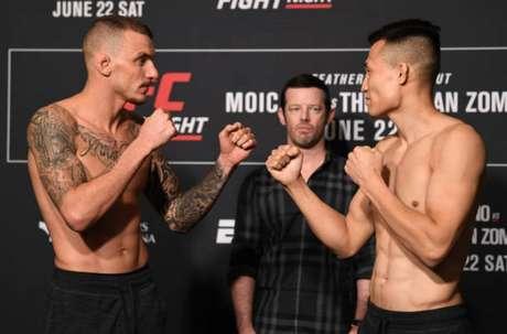Renato Moicano terá pela frente o Zumbi Coreano na luta principal do UFC Greenville (Foto: Getty Images/UFC)