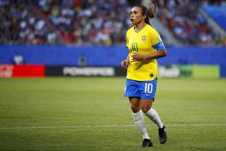 Marta do Brasil durante uma partida entre o Brasil e Itália, válida para a Copa do Mundo Feminina de 2019, FIFA, realizada na Terça-Feira, 18 de junho de 2019, no Estádio de Hainaut, em Valenciennes, França.