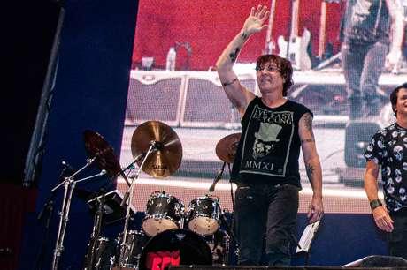 Paulo Antonio Figueiredo Pagni, conhecido como P.A., durante show da banda RPM em São Paulo