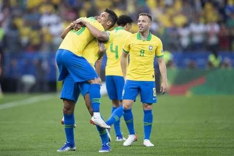 Seleção ficou em primeira do Grupo A e aguarda definição de rival (Foto: Lucas Figueiredo/CBF)