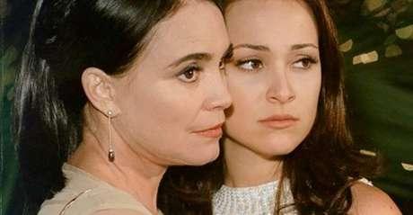 Helena (Regina Duarte) e Maria Eduarda (Gabriela Duarte): pessoas irreais que despertam sentimentos verdadeiros no telespectador