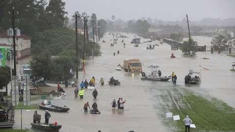 Inundações provocadas pelo furacão Harvey em 2017; risco é que previsão de fenômenos semelhantes seja prejudicada