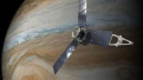 A nave Juno, da Nasa