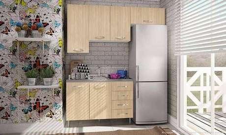 50. Móveis modulados sob medida para cozinha compacta. Projeto de Lojas KD