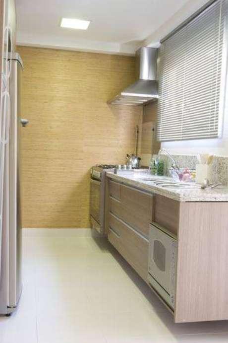 71. Cozinha compacta com layout de corredor. Projeto de Janaina Leibovitch