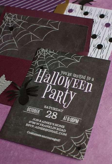 13. O convite festa à fantasia deve ser de acordo com a decoração da sua casa, capriche nos detalhes! – Por: Pinterest