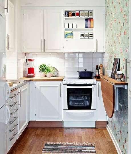 70. Cozinha pequena com móveis funcionais. Fonte: Pinterest