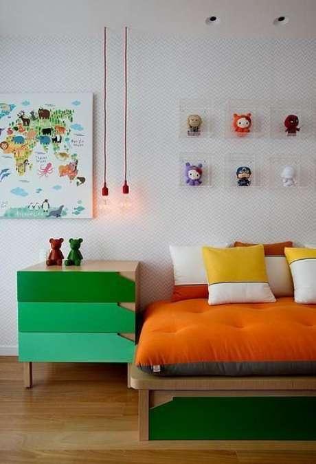 11. Misture cores para criar ambientes alegres e divertidos com tons de verde – Por: Cesar Valenccia