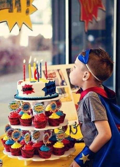 6. As crianças amam a festa à fantasia infantil inspirada em super heróis! – Por: Pinterest