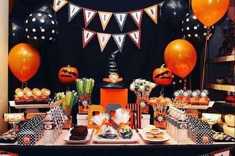 45. Ideias para decoração de festa à fantasia estilo halloween – Por: