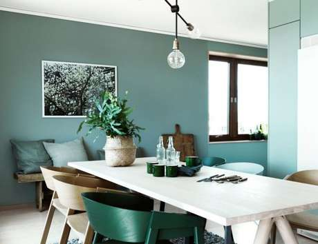 14. Os tons de verde são perfeitos para criar paletas de cores monocromáticas – Por: Casa Toda