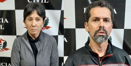 Écio Pilli Júnior, de 47 anos, e Marina Okido, de 65 anos, são presos pormanter idosa em cativeiro durante 20 anos em Vinhedo, no interior de SP