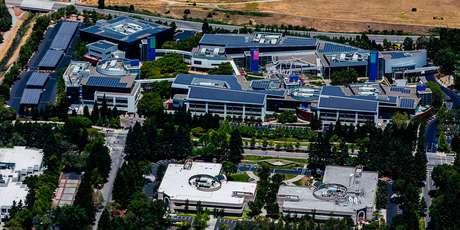 Campus da Google em Mountain View, Califórnia. (Fonte: Austin McKinley/Reprodução)