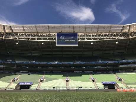 Allianz Parque recebe duelo entre Palmeiras e Inter, no dia 10, pelas quartas da Copa do Brasil (Palmeiras/Twitter)