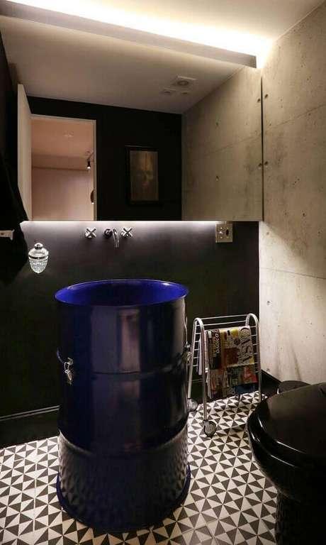 11. A grande vantagem do tonel tambor decorativo é que ele pode ser usado em praticamente todos os cômodos – Foto: SP Estudio