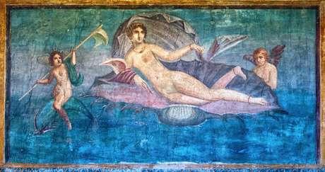 Afresco de Vênus no templo de Vénus, Pompeia, Itália