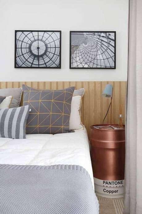 55. Tonel para decoração de quarto de casal – Foto: Zozu