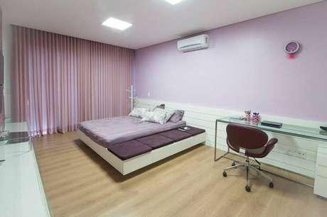 19. Seguir a mesma paleta de cores nas cortinas para quartos é essencial