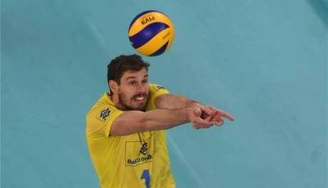 Bruninho, levantador da seleção brasileira