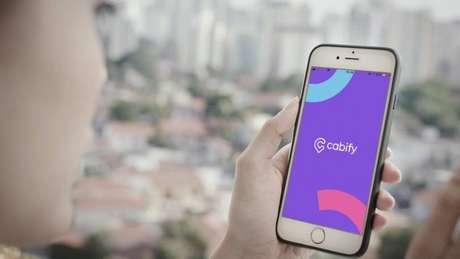 App do Cabify no celular