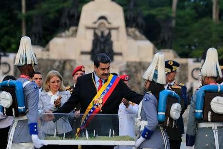 Presidente da Venezuela, Nicolás Maduro, durante cerimônia perto de Valencia 24/06/2019 Palácio Miraflores/Divulgação via REUTERS