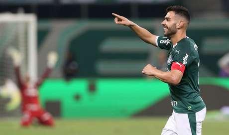 Bruno Henrique foi o último jogador do Palmeiras a balançar as redes antes da pausa (Agência Palmeiras/Divulgação)