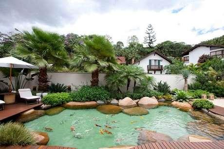 8. Se você fizer um lago artificial grande, coloque carpas para decorá-lo! – Por: Ecosys
