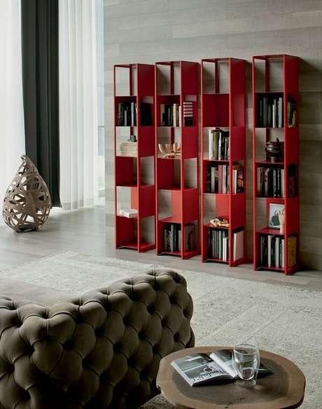 59. Conjunto de prateleira para livros com design moderno. Fonte: Ociohogar