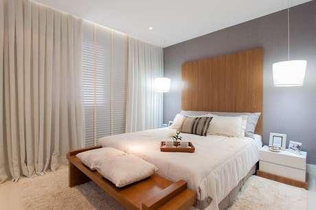 33- As cortinas para quarto embutidas podem ser feitas em vários tipos de tecidos. Fonte: Pinterest