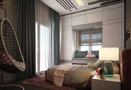35- As cortinas para quarto devem acompanhar o estilo de decoração do ambiente. Fonte: Pinterest